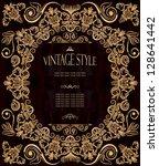 elegant vintage frame with... | Shutterstock .eps vector #128641442