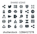 share icon set. 30 filled... | Shutterstock .eps vector #1286417278