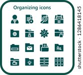 organizing icon set. 16 filled ... | Shutterstock .eps vector #1286418145