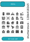 real icon set. 25 filled real... | Shutterstock .eps vector #1286418265
