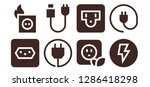 outlet icon set. 8 filled...