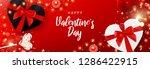 saint valentine's day banner.... | Shutterstock .eps vector #1286422915