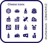 cheese icon set. 16 filled...   Shutterstock .eps vector #1286424412