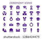 ceremony icon set. 30 filled... | Shutterstock .eps vector #1286424475