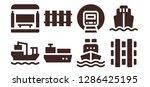 transit icon set. 8 filled... | Shutterstock .eps vector #1286425195