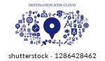 destination icon set. 93... | Shutterstock .eps vector #1286428462