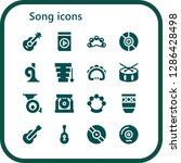 song icon set. 16 filled song... | Shutterstock .eps vector #1286428498