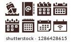 agenda icon set. 8 filled... | Shutterstock .eps vector #1286428615
