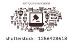 antique icon set. 93 filled... | Shutterstock .eps vector #1286428618