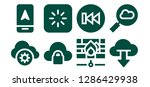 upload icon set. 8 filled... | Shutterstock .eps vector #1286429938