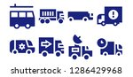 lorry icon set. 8 filled lorry ...   Shutterstock .eps vector #1286429968