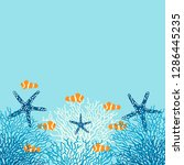 Sea Life Vector Background With ...