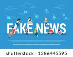 fake news and and information... | Shutterstock .eps vector #1286445595