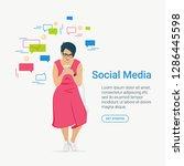 social media concept flat... | Shutterstock .eps vector #1286445598