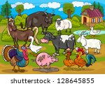 cartoon illustration of country ... | Shutterstock .eps vector #128645855