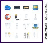 16 portable icon. vector... | Shutterstock .eps vector #1286467258
