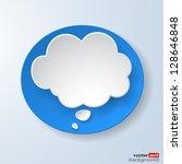 abstract paper speech bubble on ... | Shutterstock .eps vector #128646848