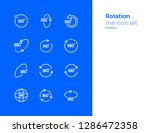 rotation line icon set. set of... | Shutterstock .eps vector #1286472358