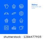 bakery line icon set.set of... | Shutterstock .eps vector #1286477935