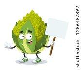 cartoon joyful green roman... | Shutterstock .eps vector #1286487892