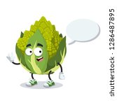 cartoon joyful green roman... | Shutterstock .eps vector #1286487895