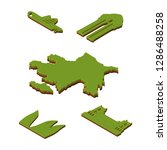 isometric set azerbaijan map 3d ... | Shutterstock .eps vector #1286488258