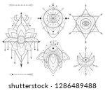 vector set of sacred geometric... | Shutterstock .eps vector #1286489488