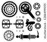 bicycles. set of bicycle parts. ... | Shutterstock .eps vector #1286499055