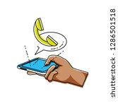hand using smartphone with... | Shutterstock .eps vector #1286501518