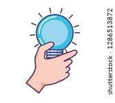 bulb light isolated icon | Shutterstock .eps vector #1286513872