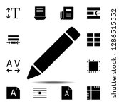 pencil tool  text icon. simple...