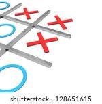 3d tic tac toe | Shutterstock . vector #128651615