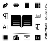 book  text icon. simple glyph ...