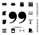 quote  text icon. simple glyph  ...