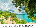 beautiful aerial view of beach... | Shutterstock . vector #1286526538