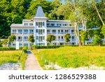 historical holiday villa on... | Shutterstock . vector #1286529388