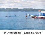 dec 23 2018 tourists enjoy...   Shutterstock . vector #1286537005