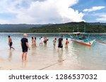 dec 23 2018 people on vacation...   Shutterstock . vector #1286537032