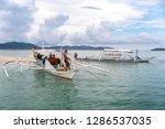 dec 23 2018 boat anchored at...   Shutterstock . vector #1286537035