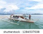 dec 23 2018 boat anchored at...   Shutterstock . vector #1286537038