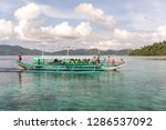 dec 23 2018 bangka boat moving... | Shutterstock . vector #1286537092
