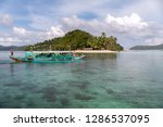 dec 23 2018 bangka boat moving... | Shutterstock . vector #1286537095