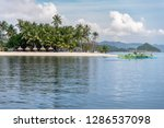 dec 23 2018 bangka boat moving... | Shutterstock . vector #1286537098