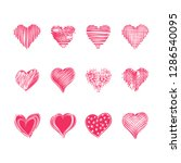 abstract love symbols for happy ...   Shutterstock .eps vector #1286540095