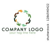multi color  circle logo.this...   Shutterstock .eps vector #1286540422