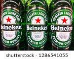 heineken lager beer logo... | Shutterstock . vector #1286541055