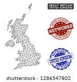 black mesh vector map of united ...   Shutterstock .eps vector #1286547802