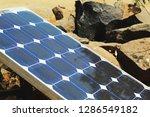 solar plate at sunlight to... | Shutterstock . vector #1286549182