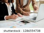 hands of businessman giving... | Shutterstock . vector #1286554738