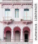 neoclassical architecture with... | Shutterstock . vector #1286564635